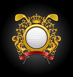 coat of arms golf symbol vector image
