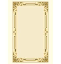 Ornamental border frame vintage vector