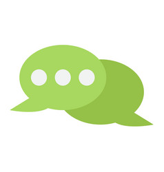 speech bubble flat con chat and website vector image vector image