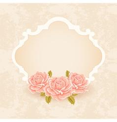Vintage Floral background greeting card template vector image