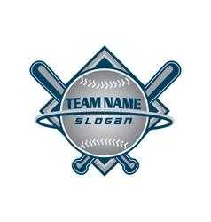 Baseball team logo vector