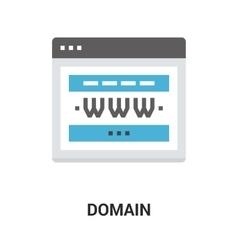 domain icon concept vector image