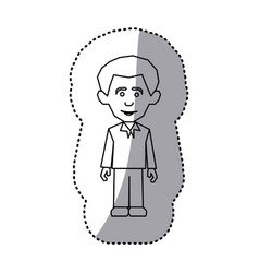 figure man with casual cloth icon vector image