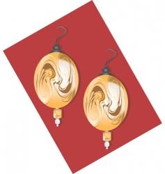 golden earring vector image vector image