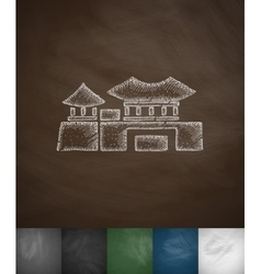 house icon Hand drawn vector image vector image