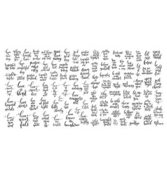 mega set of 100 black and white positive vector image vector image