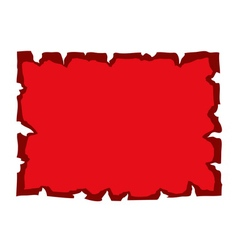 Parchment old paper blank red vector