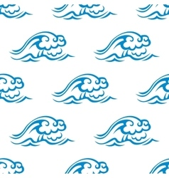 Seamless pattern of blue sea waves vector