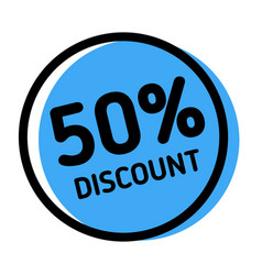 50 percent discount stamp on white vector image