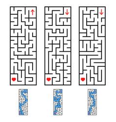 A set of rectangular labyrinths an interesting vector