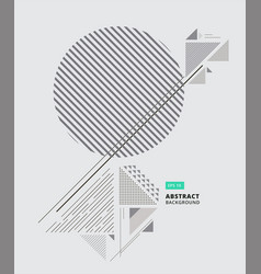 Abstract geometric composition forms modern vector