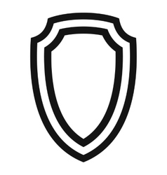 Army shield icon simple style vector