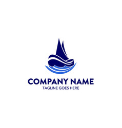 Aviation and marine logo template vector