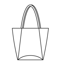big bag icon outline style vector image