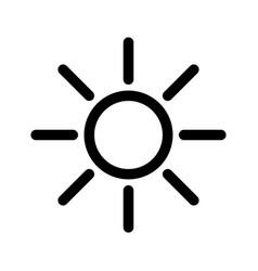 black sun icon and symbol vector image