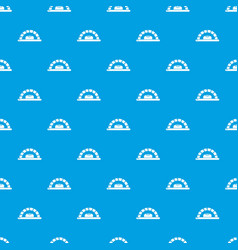 Bread oven pattern seamless blue vector