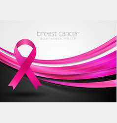 breast cancer awareness month smooth silk waves vector image