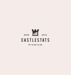 castle stats bar chart logo icon vector image