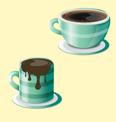 chocolate and coffee vector image