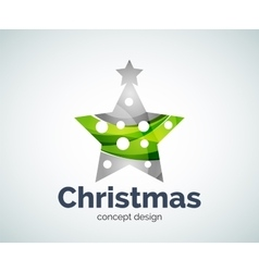 Christmas or New Year star decoration logo vector