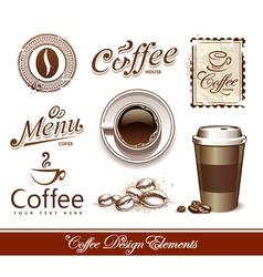 Coffee design elements vector