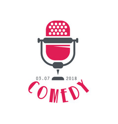 Comedy logo design element for show poster vector