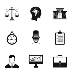 Company icons set simple style vector