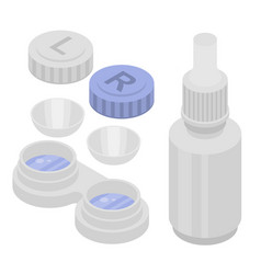 contact lens icons set isometric style vector image