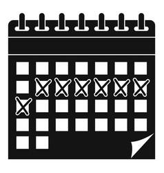 Contraceptive calendar icon simple style vector