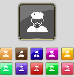 Cook icon sign Set with eleven colored buttons for vector