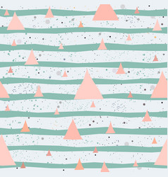 creative hand drawn seamless pattern triangles vector image