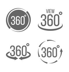 Creative of 360 degrees view vector