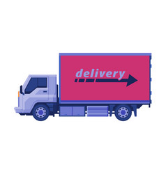 Delivery truck cargo shipping transportation vector