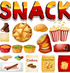 Different kind snack vector