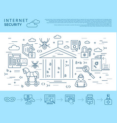 digital blue internet security vector image