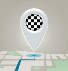 Digital map marchroute finishing point vector image