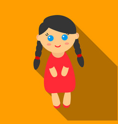 doll flate icon for web and mobile vector image