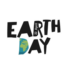 Earth day ecology logotype template earth planet vector