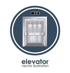 Elevator design vector