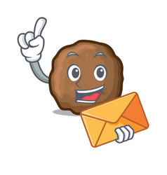 Envelope meatball character cartoon style vector
