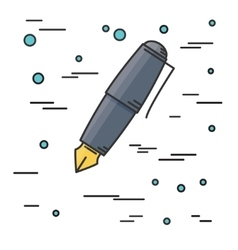 Fountain pen Icon Think line icon vector image