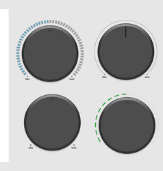 Four volume dial vector