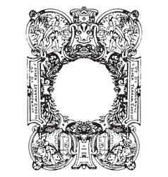 french typographical frame was designed during in vector image