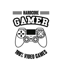Gamer gamepad technology vector