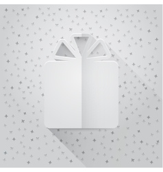 Gift box and confetti Flat vector image