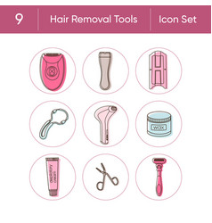 Hair removal tools vector