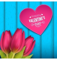 Heart shaped frame and text vector image
