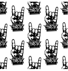 Heavy rock music seamless pattern vintage vector