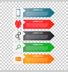 Infographic templates with smartphone people gear vector