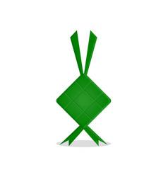 ketupat eid al-fitr vector image